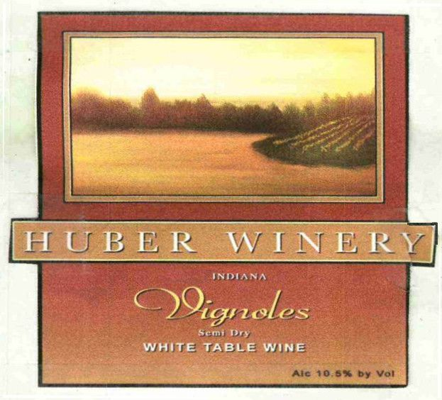 Huber Orchard Winery Vignoles 2010 Front Label
