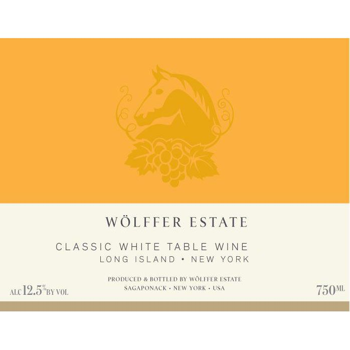 Wolffer Estate Classic White 2017 Front Label