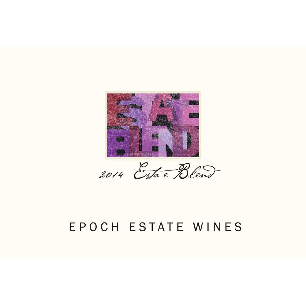 Epoch Estate Red Blend  2014 Front Label