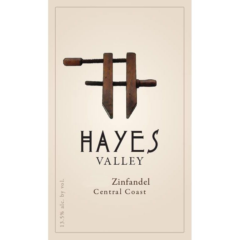 Hayes Valley Zinfandel 2016 Front Label