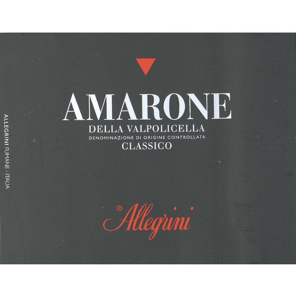Allegrini Amarone 1997 Front Label