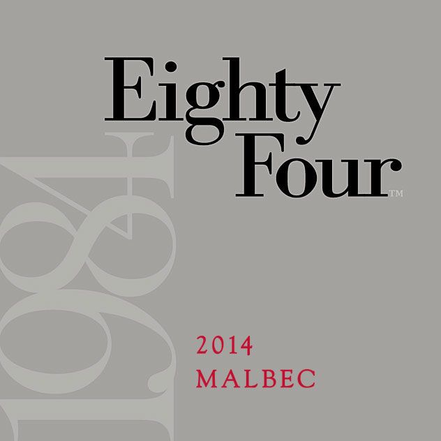 Eighty Four Malbec 2014 Front Label