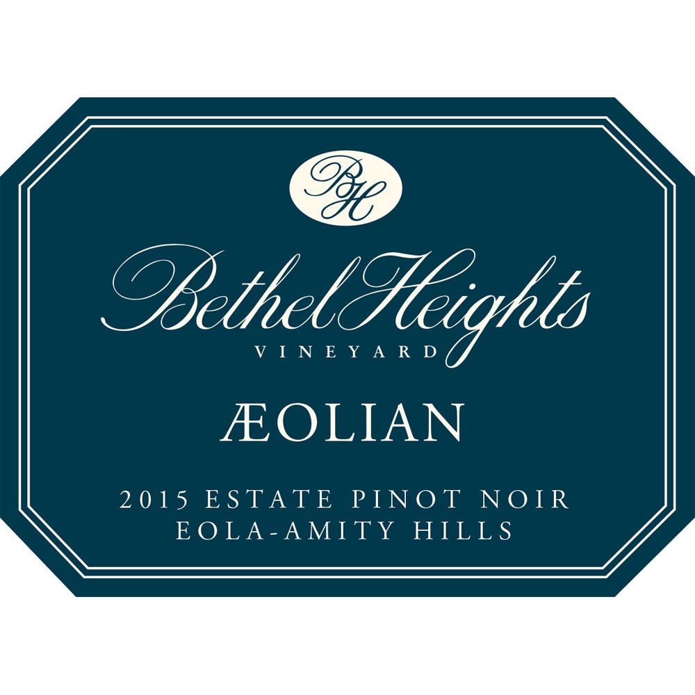 Bethel Heights Aeolian Pinot Noir 2015 Front Label