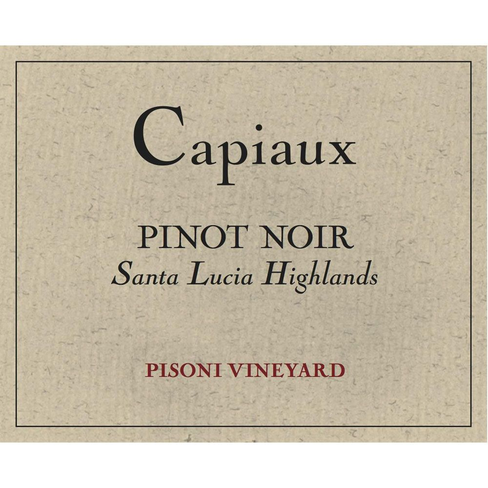 Capiaux Cellars Pisoni Vineyard Pinot Noir 2015 Front Label
