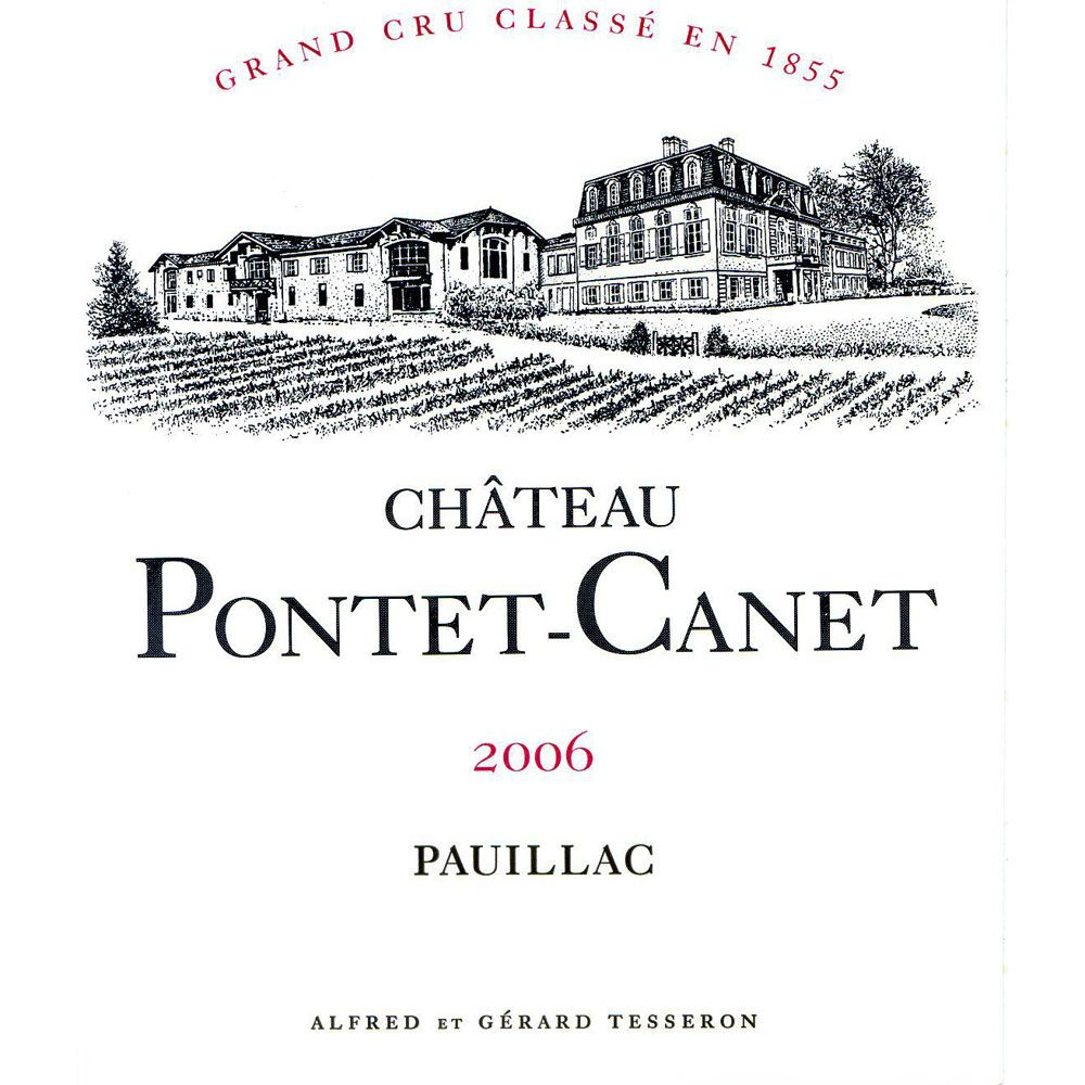 Chateau Pontet-Canet (scuffed label) 2006 Front Label