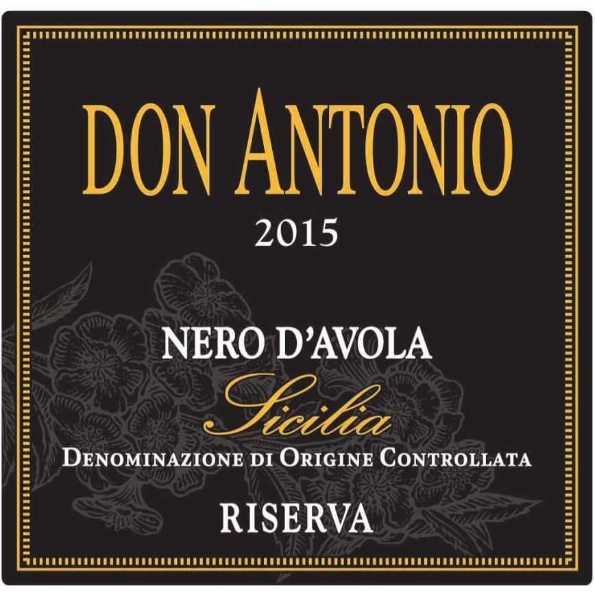 Morgante Don Antonio Nero d'Avola Riserva 2015 Front Label