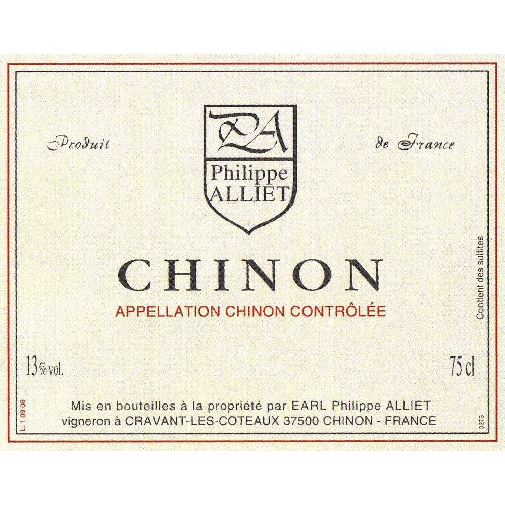 Philippe Alliet Chinon 2017 Front Label