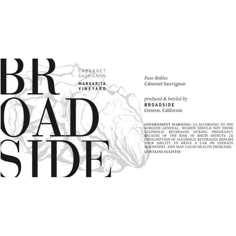 Broadside Margarita Vineyard Cabernet Sauvignon 2016 Front Label