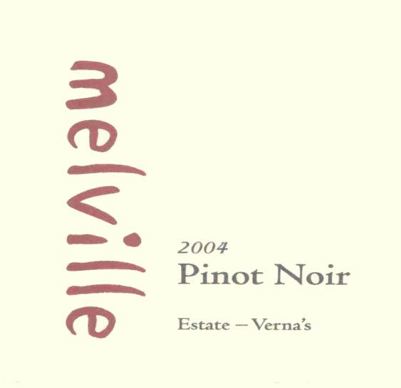 Melville Estate Verna's Pinot Noir 2004 Front Label