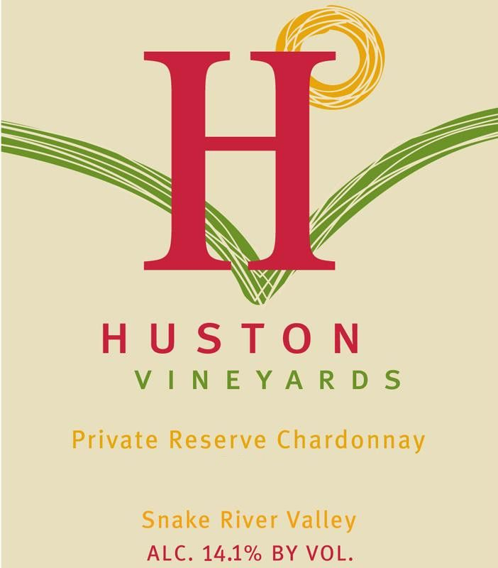 Huston Vineyards Private Reserve Chardonnay 2014 Front Label