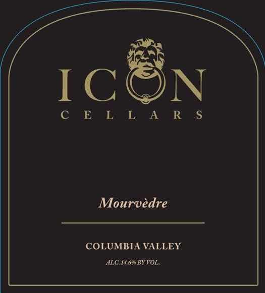 Icon Cellars Mourvedre 2012 Front Label
