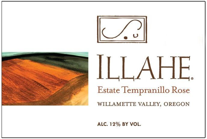 Illahe Vineyards and Winery Estate Tempranillo Rose 2015 Front Label