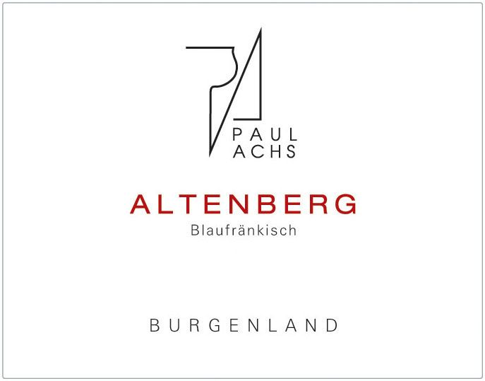 Paul Achs Altenberg Blaufrankisch 2011 Front Label