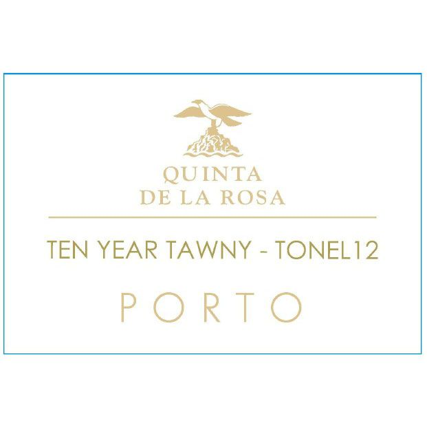 Quinta de la Rosa 10 Year Tawny Port Tonel 12 (500ML) Front Label