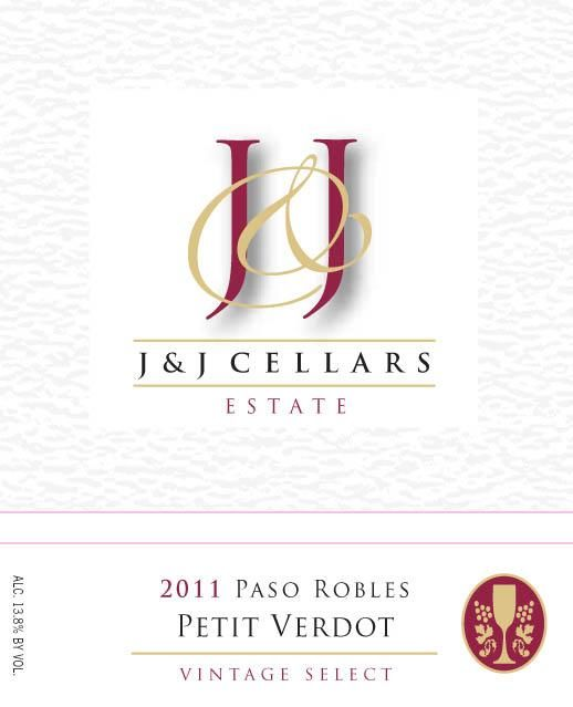J & J Cellars Petit Verdot 2011 Front Label