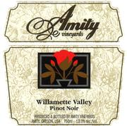 Amity Willamette Valley Pinot Noir 1999 Front Label