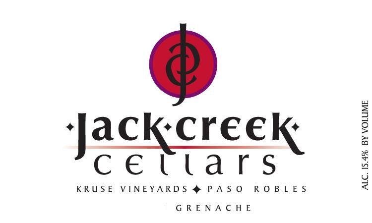 Jack Creek Cellars Kruse Vineyard Grenache 2010 Front Label
