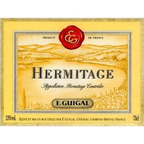 Guigal Hermitage Rouge 1998 Front Label