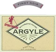 Argyle Spirithouse Pinot Noir 1999 Front Label