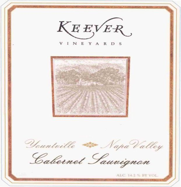 Keever Vineyards and Winery Cabernet Sauvignon 2010 Front Label