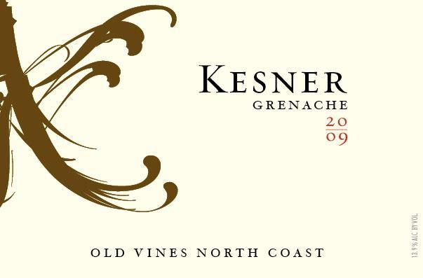 Kesner Wines Old Vines Grenache 2009 Front Label