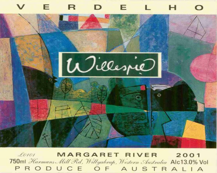 Willespie Verdelho 2001 Front Label