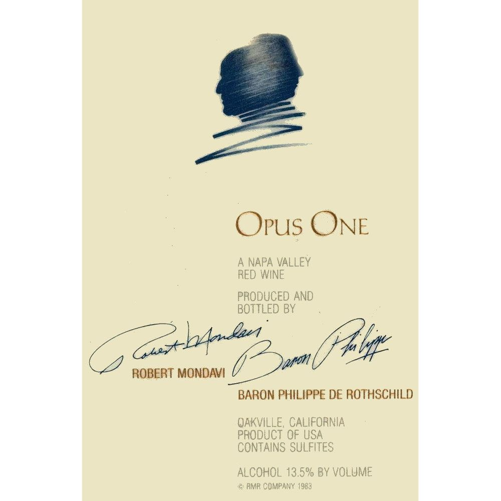 Opus One  1998 Front Label