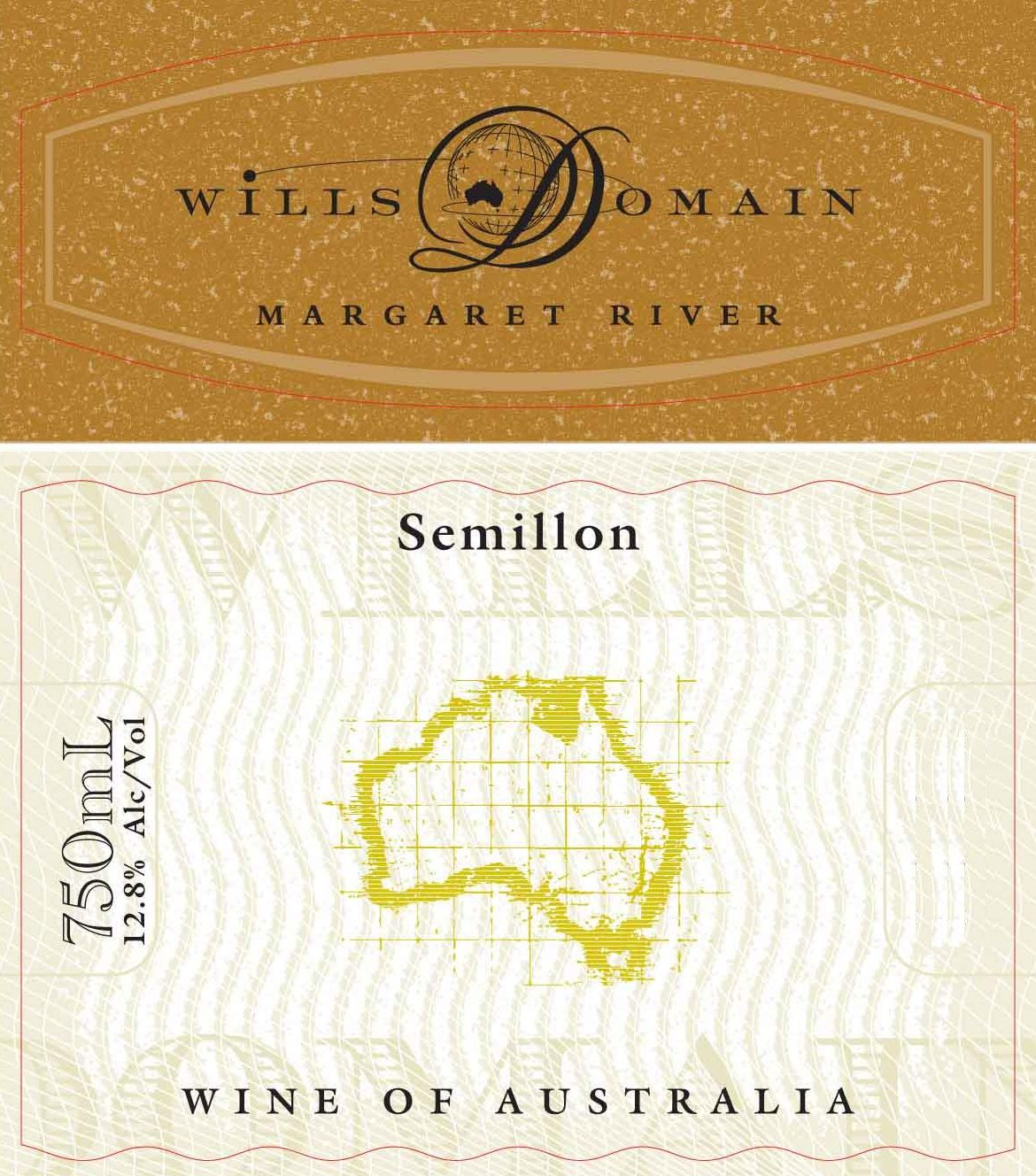 Wills Domain Semillon 2006 Front Label