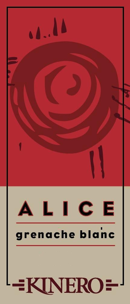 Kinero Cellars Alice Grenache Blanc 2012 Front Label