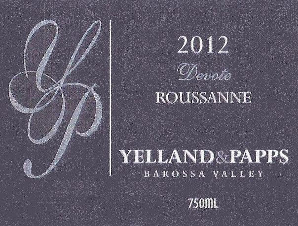 Yelland and Papps Devote Roussanne 2012 Front Label