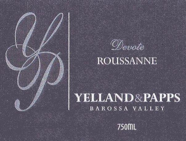 Yelland and Papps Devote Roussanne 2015 Front Label