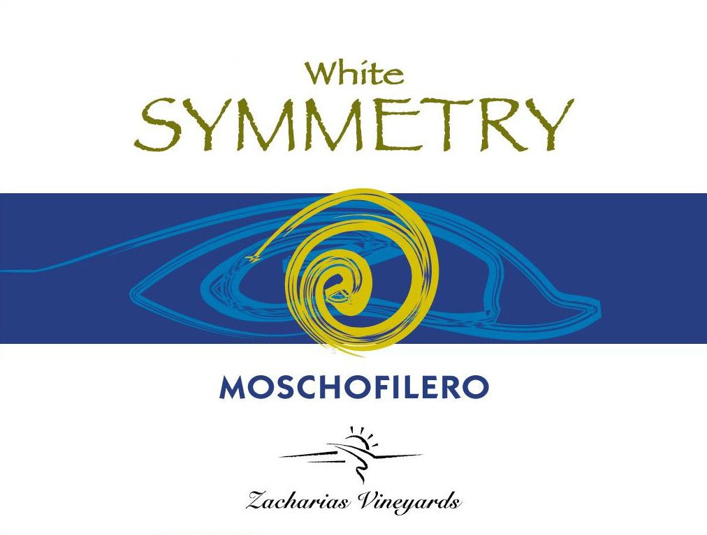 Zacharias Vineyards White Symmetry Moschofilero 2014 Front Label