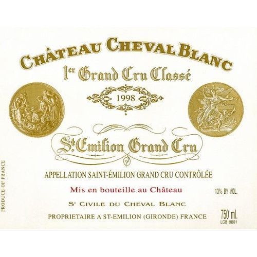Chateau Cheval Blanc  1998 Front Label