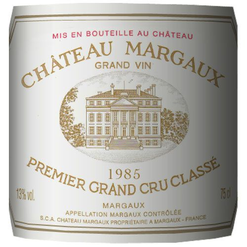 Chateau Margaux  1985 Front Label