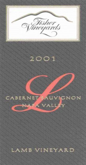 Fisher Vineyards Lamb Vineyard Cabernet Sauvignon 2001 Front Label