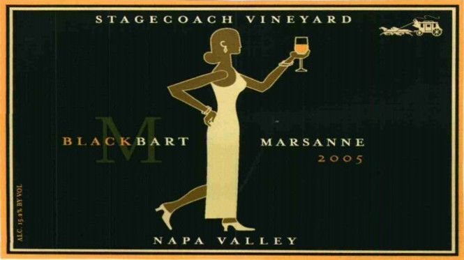 Krupp Brothers Estates Black Bart Stagecoach Vineyard Marsanne 2005 Front Label