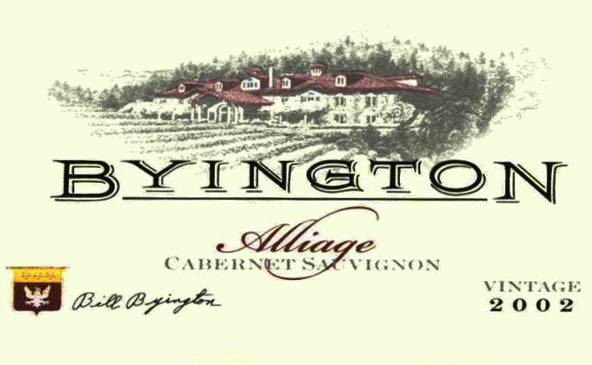 Byington Alliage - Red Meritage 2002 Front Label