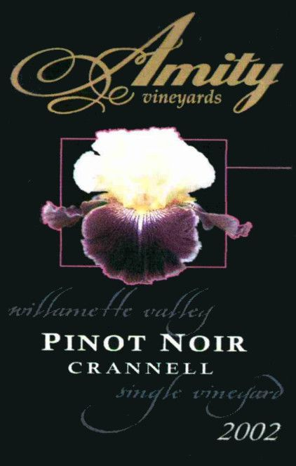 Amity Crannell Pinot Noir 2002 Front Label