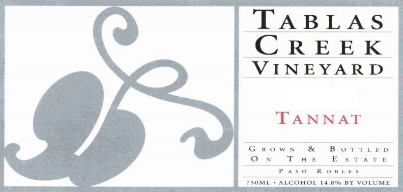 Tablas Creek Tannat 2003 Front Label