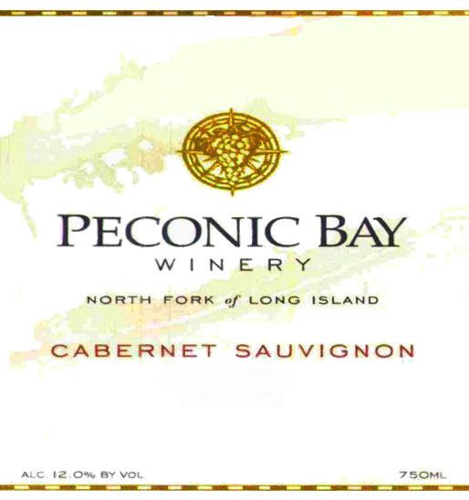 Peconic Bay Winery Cabernet Sauvignon 2004 Front Label