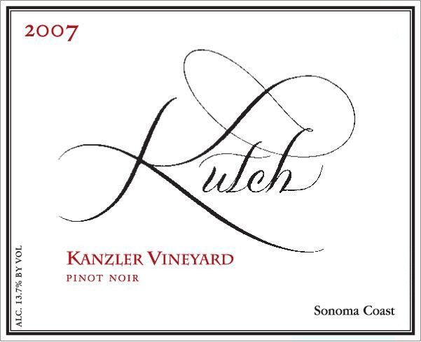 Kutch Wines Kanzler Vineyard Pinot Noir 2007 Front Label