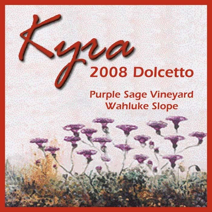 Kyra Wines Purple Sage Vineyard Dolcetto 2008 Front Label
