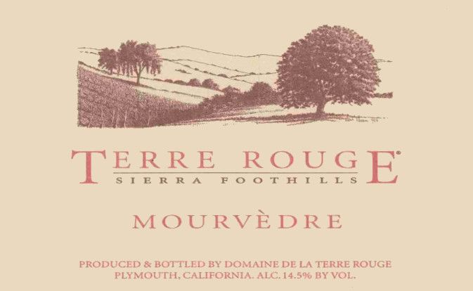 Terre Rouge Mourvedre 2005 Front Label