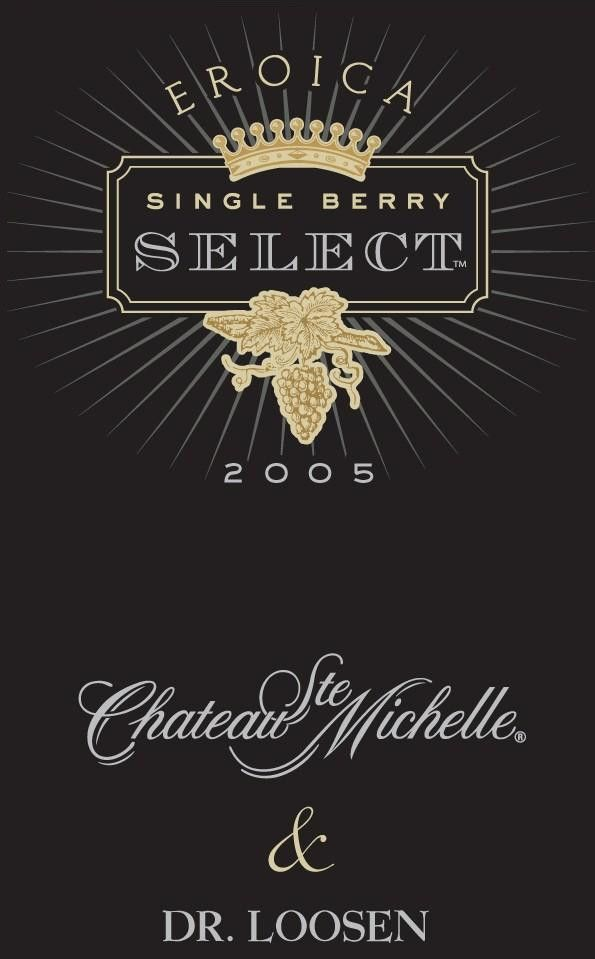 Eroica Single Berry Select (375ML half bottle) 2005 Front Label
