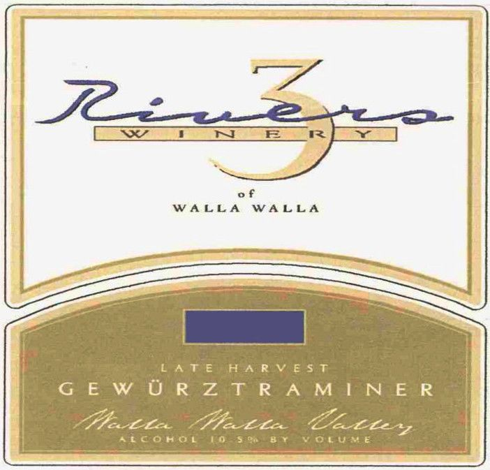 Three Rivers Late Harvest Gewurtraminer 2006 Front Label