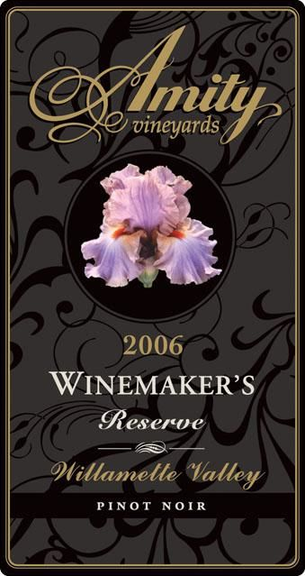 Amity Winemaker's Reserve Pinot Noir 2006 Front Label