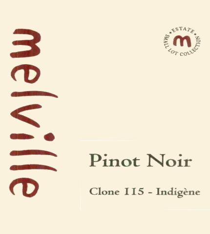 Melville Clone 115 Indigene Pinot Noir 2007 Front Label