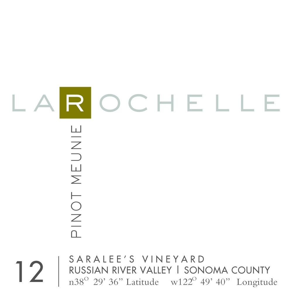 La Rochelle Winery Saralees Vineyard Pinot Meunier 2012 Front Label
