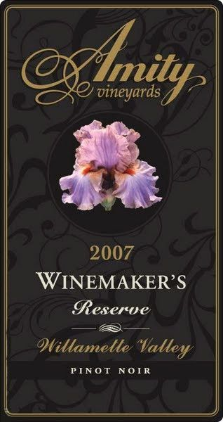 Amity Winemaker's Reserve Pinot Noir 2007 Front Label