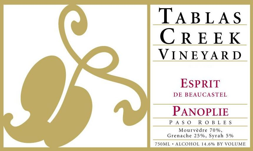 Tablas Creek Esprit de Beaucastel Panoplie 2007 Front Label